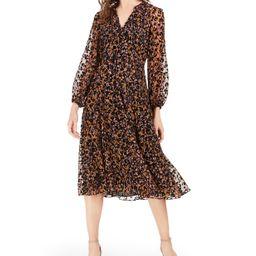 Tommy Hilfiger Flocked Midi Dress & Reviews - Dresses - Women - Macy's | Macys (US)