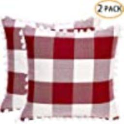 2 Pack Decorative Throw Pillow Covers Buffalo Check Plaid Square Cushion Case Farmhouse Fall Home... | Amazon (US)