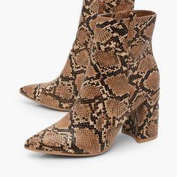 Snake Pointed Shoe Boots | Boohoo.com (US & CA)