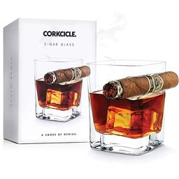 Corkcicle Cigar Glass - Double Old Fashioned Glass With Built-In Cigar Rest | Amazon (US)
