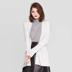 Women's Long Sleeve Open Neck Layering Rib Cardigan - A New Day™ | Target