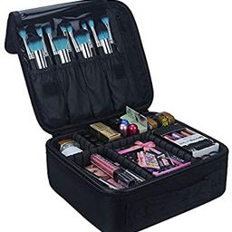 Relavel Travel Makeup Train Case Makeup Cosmetic Case Organizer Portable Artist Storage Bag with ...   Amazon (US)