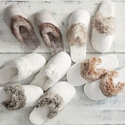 Faux Fur Slippers   Pottery Barn (US)