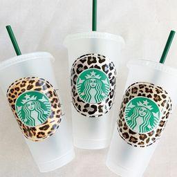 Leopard Animal Print Solid Starbucks Cup- Liquid Gold - Go Go Juice - Customizable - Venti Cold C...   Etsy (US)