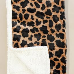 Calling Me Home Brown Animal Print Sherpa Blanket   The Pink Lily Boutique