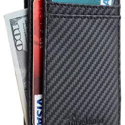 Travelambo Front Pocket Minimalist Leather Slim Wallet RFID Blocking Medium Size | Amazon (US)
