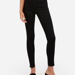 high waisted denim perfect black ankle leggings | Express
