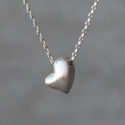 Puffy Heart Necklace in Sterling Silver | Etsy (US)