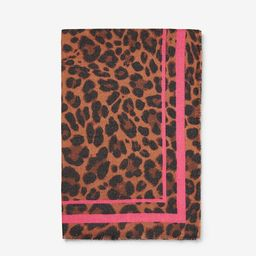 pink leopard square scarf | Express
