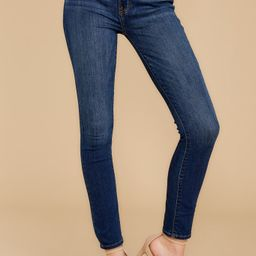 For The Win Dark Wash Skinny Jeans | Red Dress