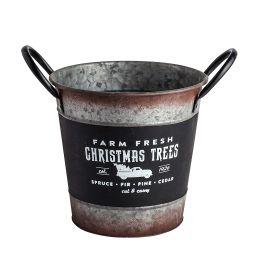 Small Holiday Galvanized Bucket with Chalkboard Design | Walmart (US)