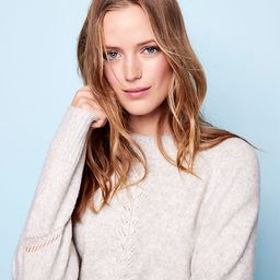 Flecked Pointelle Sweater | LOFT | LOFT