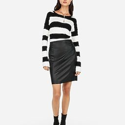 high waisted faux leather pleated pencil skirt | Express