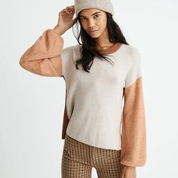 Colorblock Payton Pullover Sweater in Coziest Yarn | Madewell