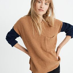 Thompson Pocket Pullover Sweater in Colorblock | Madewell