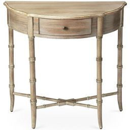 Eric Demilune Console, Driftwood | One Kings Lane