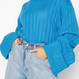 Maxi Wide Sleeve Wide Rib Jumper | Boohoo.com (US & CA)
