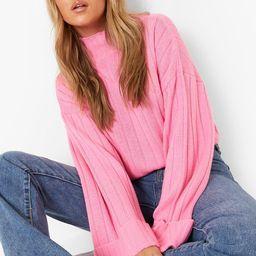 Maxi Wide Sleeve Wide Rib Sweater | Boohoo.com (US & CA)