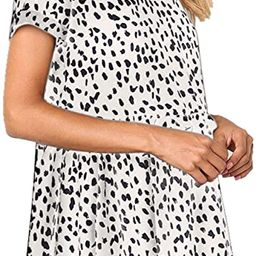 Women's Summer Casual Dresses Loose Fit Short Sleeve Beach Dress | Amazon (US)