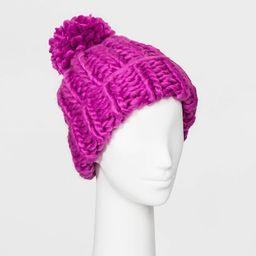 Women's Oversized Chunky Knit Beanie - Wild Fable™ | Target