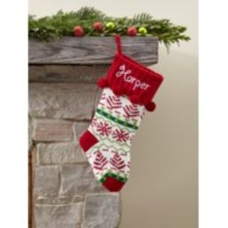 Personalized Snowflake Knit Christmas Stocking, Available in 11 Designs | Walmart (US)