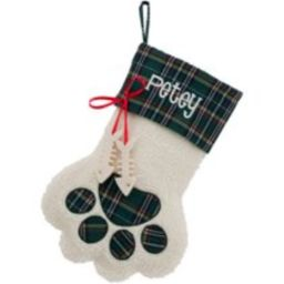 Personalized Dog Paw, Cat Paw and Snowflake Christmas Stockings | Walmart (US)
