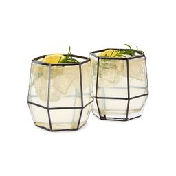 Geo Cocktail Glasses - Set of 2   UncommonGoods