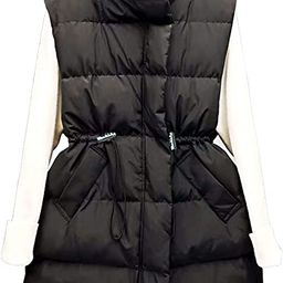 Apperloth Women's Cotton Padded Quilted Zip Vest Lightweight Thickened Outwear Jacket Long Down P... | Amazon (US)