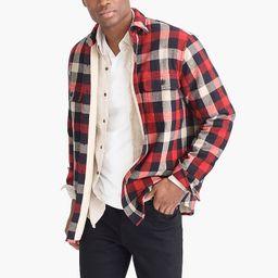 Sherpa-lined flannel jacket | J.Crew Factory