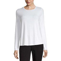 Worthington-Womens Crew Neck Long Sleeve T-Shirt | JCPenney
