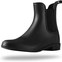 Rain Boots for Women Waterproof Ankle Rain Shoes for Ladies Chelsea Boots | Amazon (US)