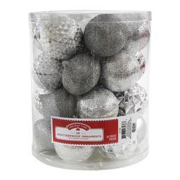 Holiday Time Shatterproof Ornaments, Silver, 26 Count | Walmart (US)