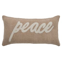 """Rizzy Home """"Peace"""" Throw Pillow 