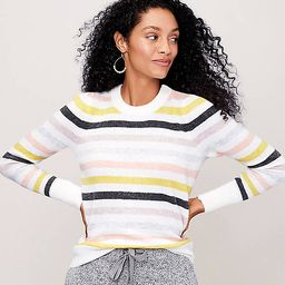 Striped Puff Sleeve Sweater | LOFT