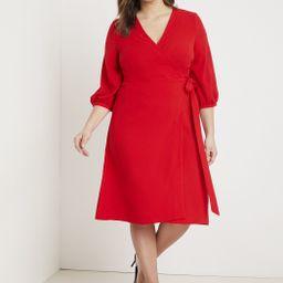 Premier 3/4 Sleeve Wrap Dress   Eloquii