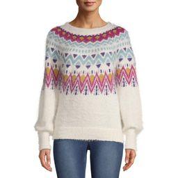 Time and Tru Fair Isle Sweater Women's | Walmart (US)