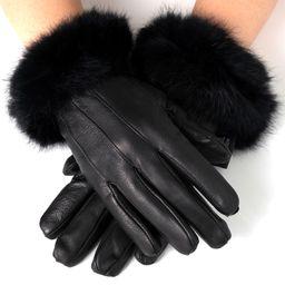 Alpine Swiss Women's Dressy Gloves Genuine Leather Thermal Lining Fur Trim Cuff | Walmart (US)