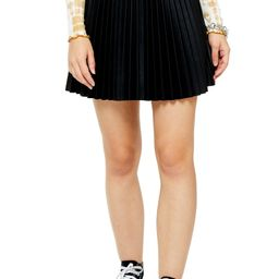 Pleated Faux Leather Miniskirt | Nordstrom