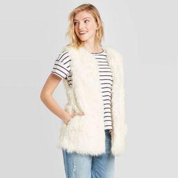 Women's Vest Jacket - Universal Thread™ Cream One Size   Target