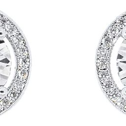 Cate & Chloe Ariel 18k White Gold Plated Halo CZ Stud Earrings, Silver Simulated Diamond Earrings...   Amazon (US)