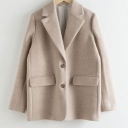 Wool Blend Oversized Blazer   & Other Stories