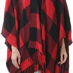 Womens Tassel Plaid Shawls Printed Open Front Blanket Ponchos for Women Large Scarf Soft Blanket ...   Amazon (US)