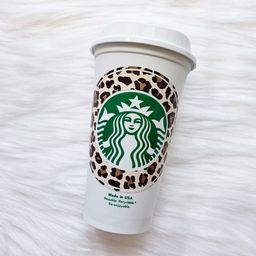 1 Leopard Print Personalized Starbucks Cup**Colors may vary depending on monitor settings.High Qu... | Etsy (US)