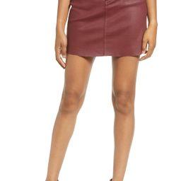Coated Denim Miniskirt   Nordstrom