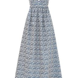 Nicole Miller Blue Printed Jacquard Gown | Rent The Runway