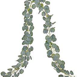 DearHouse Artificial Eucalyptus Garland Faux Silk Eucalyptus Leaves Vines Handmade Garland Greene... | Amazon (US)