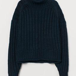 Rib-knit Turtleneck Sweater | H&M (US)