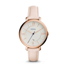 Jacqueline Date Blush Leather Watch | Fossil (US)