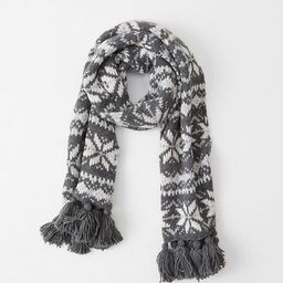 Heavyweight Knit Scarf | Abercrombie & Fitch US & UK