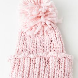 Mary Cable Knit Pom Pom Beanie | Francesca's Collections